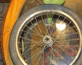 Vintage Sturmey Archer Bicycle Rim 16 x 2 with original Raleigh 16 x 2 slick tire for restoration baloon tire bicycle antique bicycle