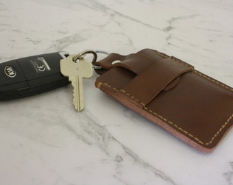 leather card holder leather key ring leather cardholder leather keyring multifunctional 2 in 1 leather gift idea can be personalised - Card Holder With Keyring