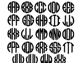 Monogram Font SVG PNG Cricut Files- Instant Download