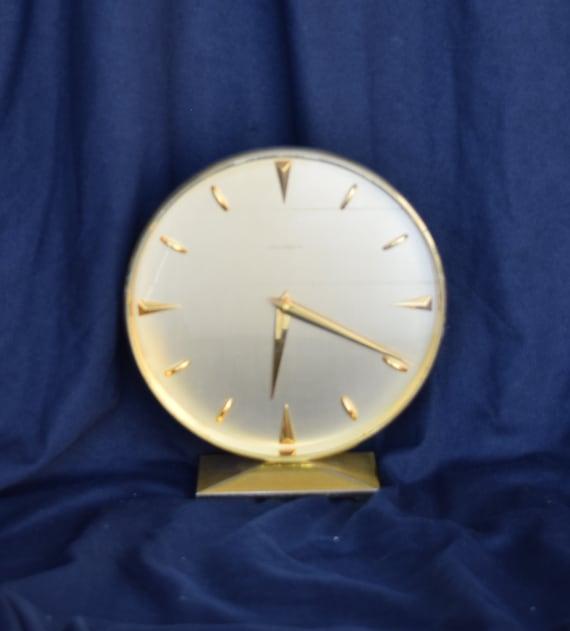 J B Hudson Desk Clock, Mantel Clock, Mid Century Modern, Table Clock, Desk  Clock, Clock Collector, Home Decor, Shabby Chic, Brass