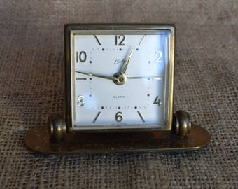 Vintage Bradley Brass Alarm Clock, Wind Up Clock, Clock Collector, Home Decor, Shabby Chic, Bobo Style, Decorative Objects, Home Accents
