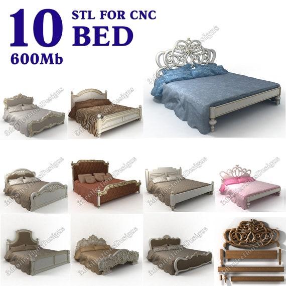3d stl model cnc router artcam aspire 10 pcs bed collection