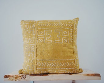 Vintage Afrikan Mudcloth Pillow Cover