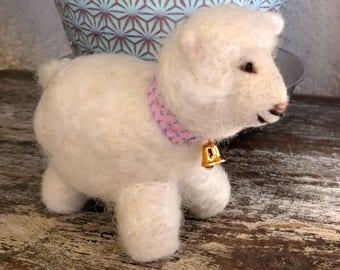 Handmade Wool Felted Lamb