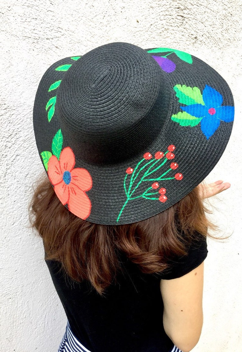 3b383429 Hand painted hat. Floral hat. Mother's Day gift. Custom | Etsy