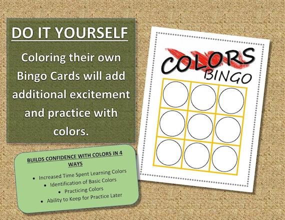 Blank diy colors bingo game etsy solutioingenieria Gallery