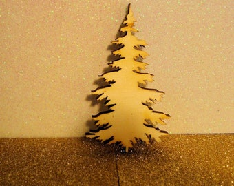 1621 Christmas tree wood 6 mm table decor