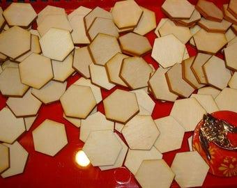 Form 100 hexagons 25 mm 02884 wood 3mm