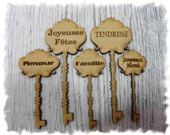 set small keys 1016 has message embellishment that goes everywhere 01016
