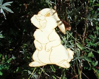 Rabbit 1786 has height 8 cm wooden Littles embellishment