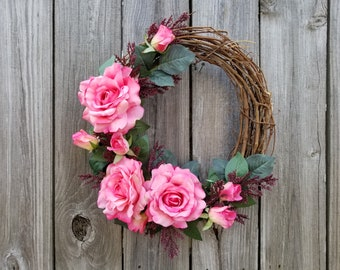 w0125 - Pink Garden of Roses - Size: 14 inches