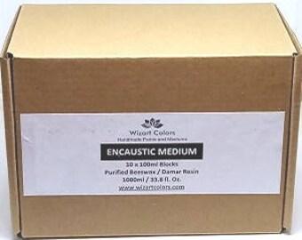 Encaustic wax Medium - Bulk Pack made of beeswax and best damar resin
