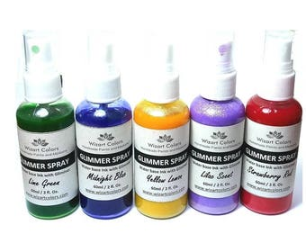 Select your Glimmer Spray Mist color by Wizart Colors. Best Shimmer paint for the Best Price.