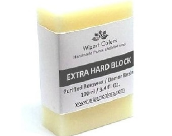 Encaustic Extra Hard Block Wax Paint made of beeswax and best damar resin
