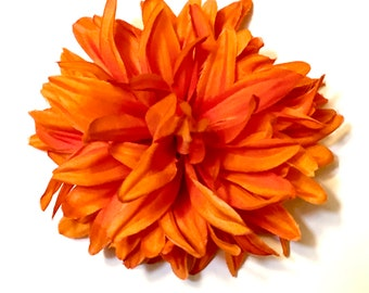 Flower Hairpin - Orange, Floral Hairpin, Natural Hair Accessory, Gift For Women, Orange Flower, Hair Accent