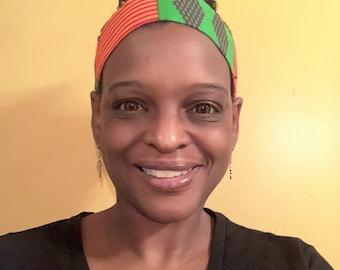 African Print Adjustable Headband - Satin Lined Headband - Afrocentric Headband - Natural Hair Accessory - Gift For Women