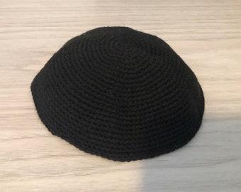 Black Hand-Knit Kippah from the Ugandan Jewish Community