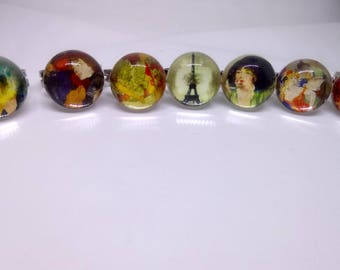 7 ring adjustable vintage paintings and portraits