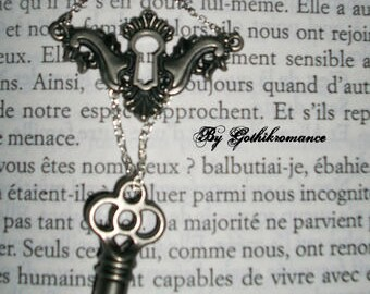 3 necklaces locks and keys to choose