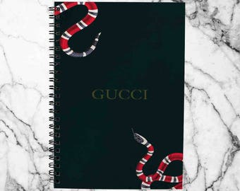 b04225b18 SALE  Gucci Notebook Snake Notebook Spiral Notebook A4 Planner Journal  Bullet Journal Leather Sketchbook Gift For Her Spiral Note Lined A5