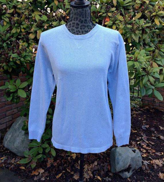 Eddie Bauer Baby Blue Sweater Womens Sky Blue Pullover Etsy