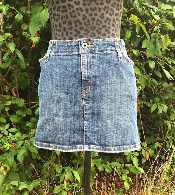 fe62bf0a09 Levis Denim Mini Skirt / Vintage Levis Denim Skirt / Levis   Etsy