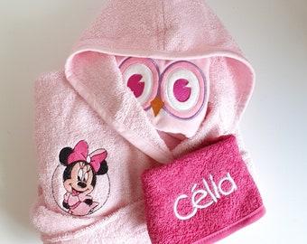Birth box small bathrobe, bib bandana and blanket attachment personalized nipple