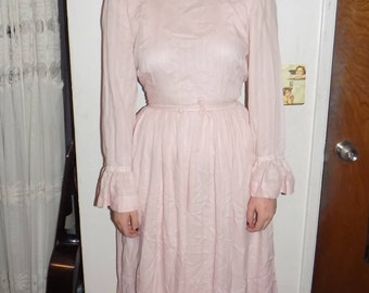 Vintage 70's Pink Dress Prairie Style