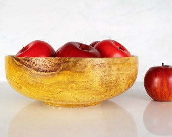 Burl Wood Bowl, FIONA, Box Elder Wooden Dish Hand Turned by Tanya Faberson