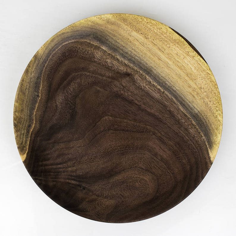 Walnut Wood Plate GALEN a Food Safe Hand Turned Wooden image 0