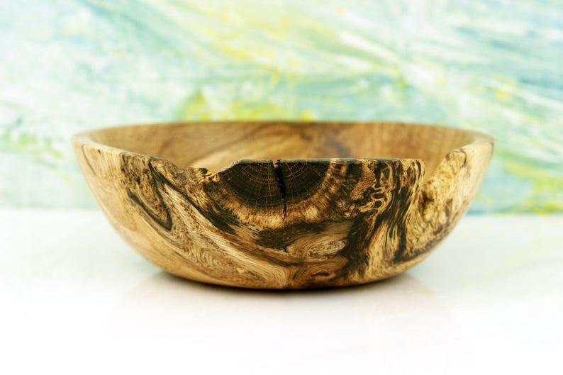 Spalted Wood Bowl Layne Handturned Wooden Bowl image 0