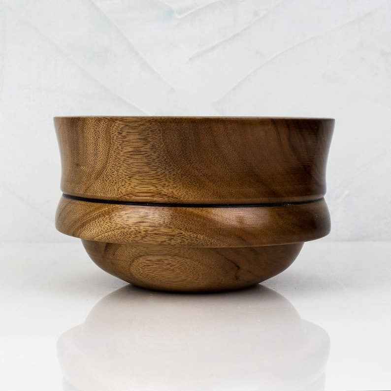 African Mahogany Wooden Bowl OONA Handturned Wood Bowl Hand image 0
