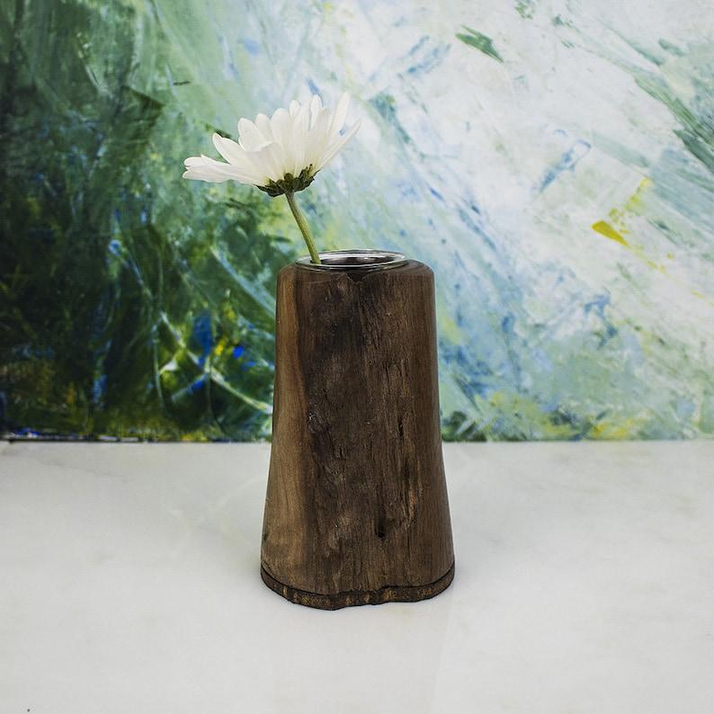 Handmade Wooden Vase MARGOT Hand Turned from Local Walnut image 0