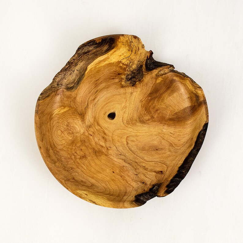 Maple Burl Wood Plate HANK a Small Hand Turned Wooden image 0