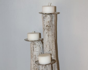 With a Driftwood candle holder