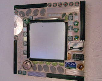 Mirror mosaic upcycled (Made in Lacanau)