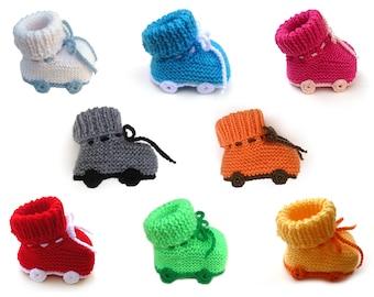 Roller skates baby booties