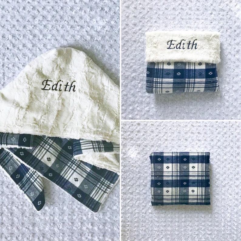 Blue baby blanket; blue plaid baby; aztec flannel receiving blanket; blue flannel swaddle blanket; Blue aztec swaddle blanket;