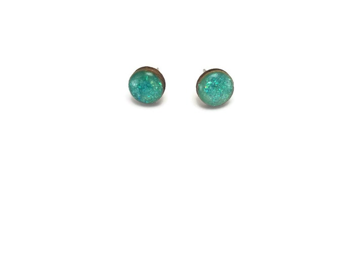 Jewelry, wood studs, wood earrings, studs, round, wood and resin, stud earrings, wood, wood jewelry, wood art, handmade, unique jewelry