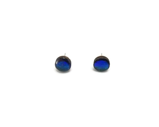 Jewelry, wood studs, wood earrings, studs, round, wood and resin, stud earrings, wood, wood jewelry, wood art, handmade, unique jewelry