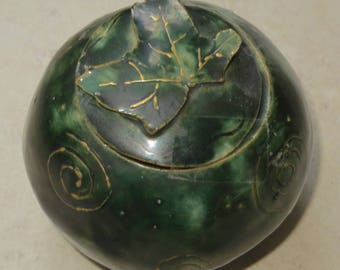 Hand sculpted stoneware ball