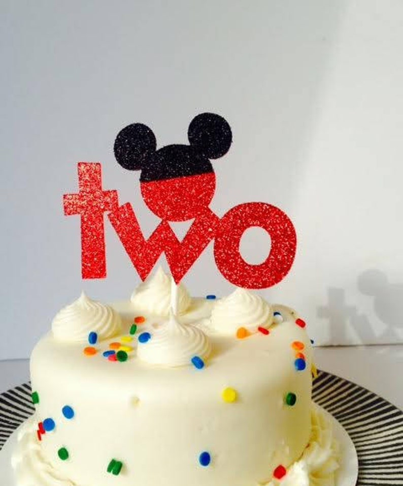 Mickey Mouse Birthday Cake Topper Any Age Birthday Cake