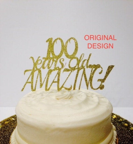 Pleasant 100 Birthday Cake Topper Happy 100Th Birthday Milestone Etsy Funny Birthday Cards Online Aboleapandamsfinfo