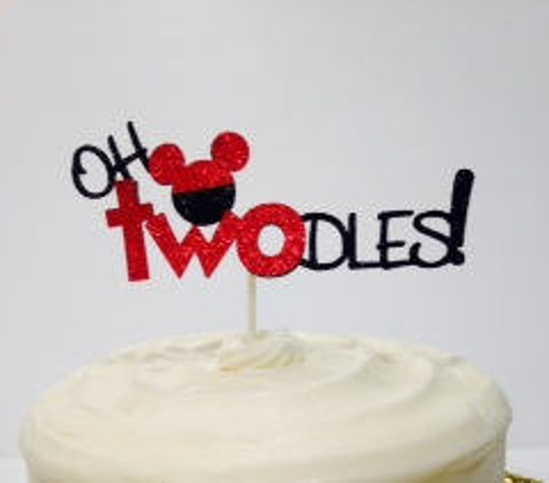 OH TWOdles Birthday Cake Topper Mickey Mouse Theme
