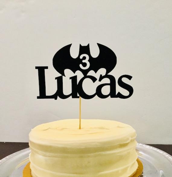 Admirable Birthday Cake Topper Custom Name Age Batman Etsy Personalised Birthday Cards Paralily Jamesorg