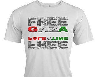 Free GAZA - Free PALESTINE TM 580 2997. Palestine man woman t-shirt