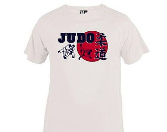 T-shirt kids Judo. Judo white Tee shirt child 4 to 12 years old