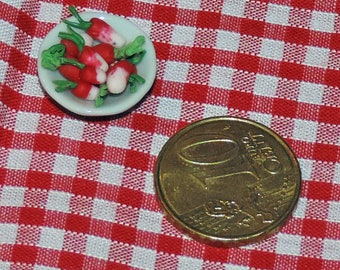 Straight from the garden, radishes (miniature)