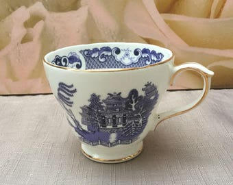 Duchess Willow Pattern Tea Cup,  Beautiful New Blue White Replacement Cup