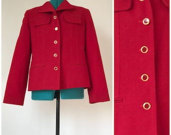 Red and Gold Blazor  Jacket by Oleg Cassini